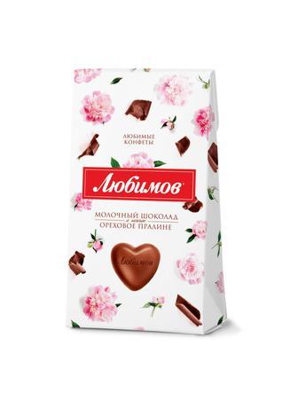 Конфеты Любимов в молочном шоколаде 100 г