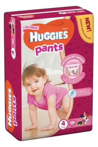 Трусики-подгузники Huggies Pants для девочек р4 9-14 кг 36 шт