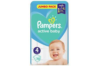 Підгузки Pampers Active Baby Maxi 9-14 кг, 70 шт./уп