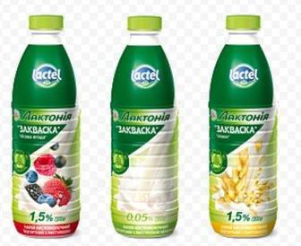 Напій кисломолочний йогуртний Закваска 1,5% Лактонія 870мл
