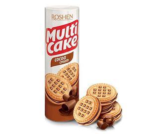 Печиво Roshen Multicake з какао-кремовою начинкою, 180г