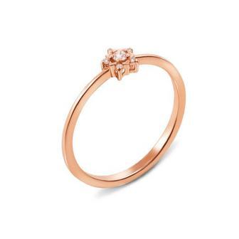 Золотое кольцо с бриллиантами. Артикул 53281/2