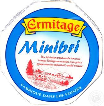 Сир мініБрі 60% або Камамбер 45% ERMITAGE Франція 250 г