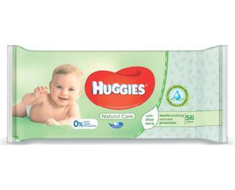 Серветки вологі Huggies Natural Care, 56шт./уп
