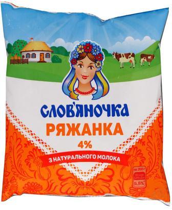 Ряжанка Слов`яночка 4% 425г п/е