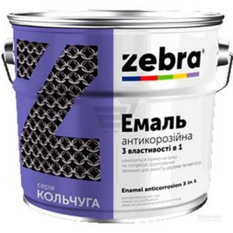 Емаль ZEBRA 3 в 1 серія Кольчуга 76 темно-вишневий 0.75кг