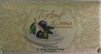 Туалетне мило Миловарні традиції Ti Amo Crema з екстрактом оливи 140 г