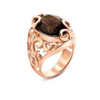 Скидка 31% ▷ Золотое кольцо с раухтопазом