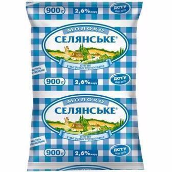 Молоко 2,5% Селянське 900мл