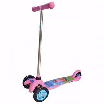 Скутер детский лицензионный PEPPA (3-колесный, 2 колеса впереди, тормоз) (Т57617)