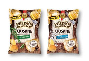 Чіпси картопляні з розмарином/ із сіллю та перцем WIEJSKIE ZIEMNIACZKI 110 г