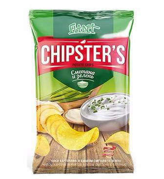 Чіпси зі смаком сиру, краба, сметана та зелень 130г, аджика 120г Chipster's