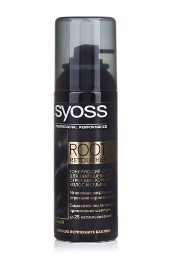 Спрей SYOSS Root Retoucher Черный, 120 мл