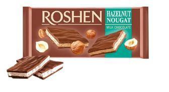 Шоколад молочний з горіховою нугою 90г