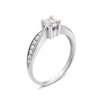 Скидка 55% ▷ Золотое кольцо с фианитами Swarovski Zirconia. Артикул 12109/02/1/23 (12109/б SW)