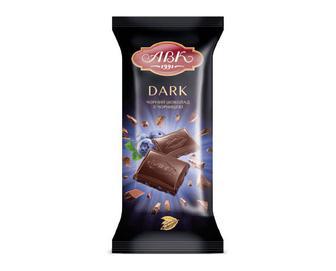 Шоколад «АВК» чорний з чорницею, 90г