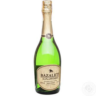 Скидка 33% ▷ Вино ігристе біле Базалеті 0,75 л