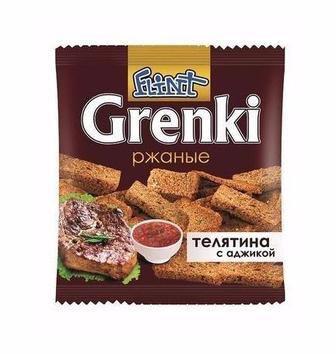 Гренки ржаные со вкусом телят. с аджик, томата спайси  Флинт 10 г