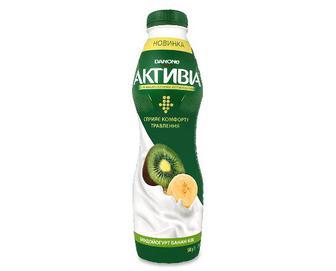Біфідойогурт «Активіа» банан-ківі, 1,5% жиру, 580г