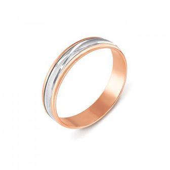 Обручальное кольцо комбинированное. Модель «Антистресс». Артикул 1035/1