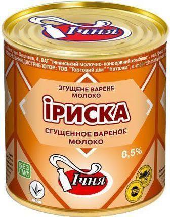 Молоко сгущенное Ириска ИЧНЯ вареная 8,5%, 370 г