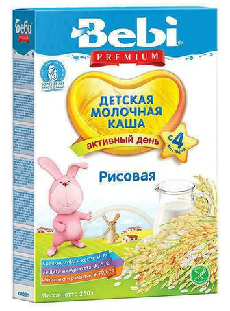 Каша Kolinska Bebi молочная рисовая с 4 месяцев 250 г