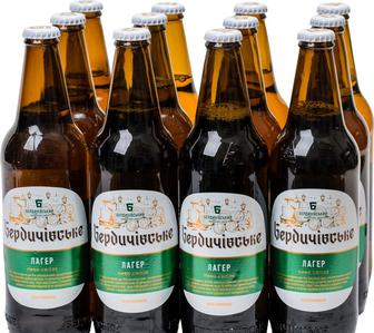 Пиво Бердичевское Лагер Светлое фильтрованное 3.8% 0.5 л