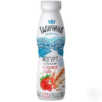 Йогурт Галичина полуниця-злаки 2,2% 580г
