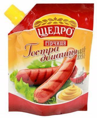 Гірчиця Щедро Гостра Домашня 120г