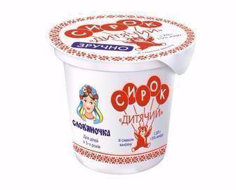 Сирок солодкий Дитяий зі смаком ванілі 15% Слов'яночка 120г