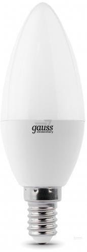 Лампа світлодіодна Gauss Elementary 6 Вт C37 матова E14 220 В 4100 К 33126