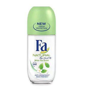 Дезодорант кульковий для жінок Fa Natural & Pure Білий чай 50мл