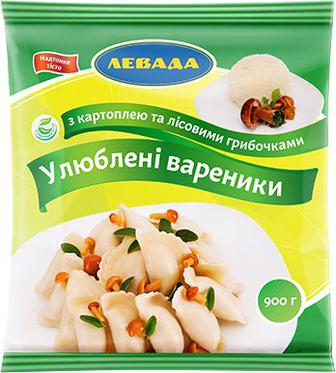 Вареники Левада Улюблені картопля-гриби 900 г