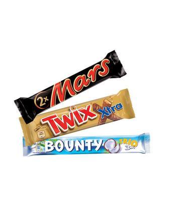 Батончик шоколадний Марс 70 г Твікс 75г або Баунті 85г