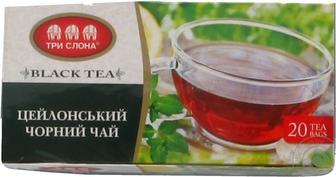 Чай Три Слона Цейлонський чорний б/н 20*1,3г