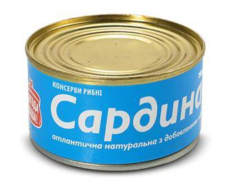 Сардина натуральна з добавленням олії «Повна Чаша»® 200г