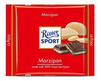 Шоколад Ritter Sport з марципаном, 100г