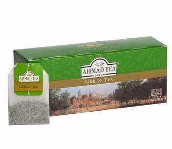 Чай чорний «Класичний» або зелений «Китайський» Ahmad Tea 25 пакетиків