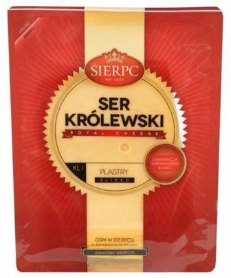 Сир  Королівський  45% нарізаний  Sierpc 150г