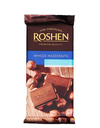 Шоколад Roshen цілий ліс.горіх мол.90г