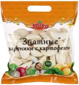 Вареники с картофелем Знатные 1 кг