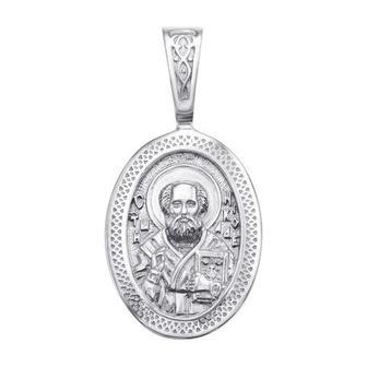 Серебряная подвеска-иконка «Св. Николай Чудотворец»