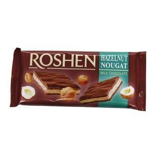 Шоколад молочний з нугою Roshen 90г