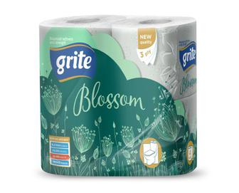 Папір туалетний 3-шаровий Grite Blossom, 4 рулони/уп