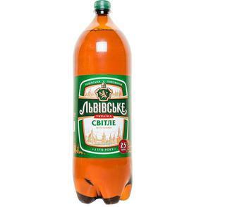 Пиво світле Львівське 2,5л