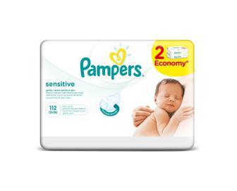 Серветки дитячі Pampers Sensitive 112 (2х56) шт./уп