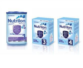 Детские смеси Nutrilon ЗГМ 3 600 г, Nutrilon ЗГМ 4 600 г, Nutrilon ГА-1 800 г