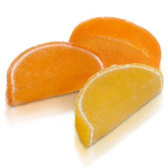 Мармелад Апельсинові та лимонні дольки ТМ ХБФ, Україна, ваг
