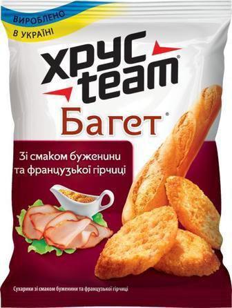 Сухарики Хрус Team Багет с бужениною 60г
