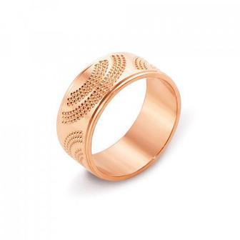 Обручальное кольцо с алмазной гранью. Артикул 10101/14